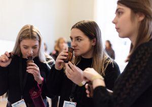 Girls testing ReminiScent at TEDx Bristol