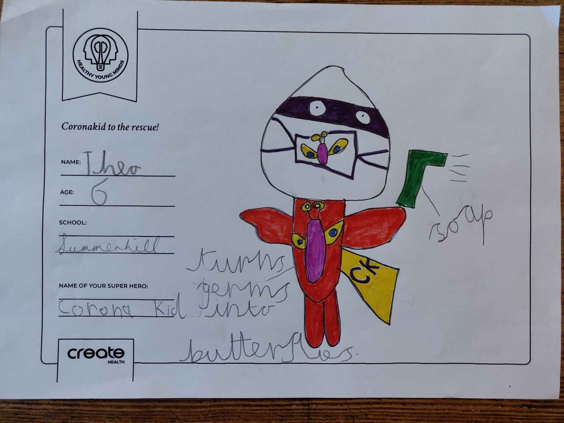 Healthy Young Minds art entrant - Theo - age 6