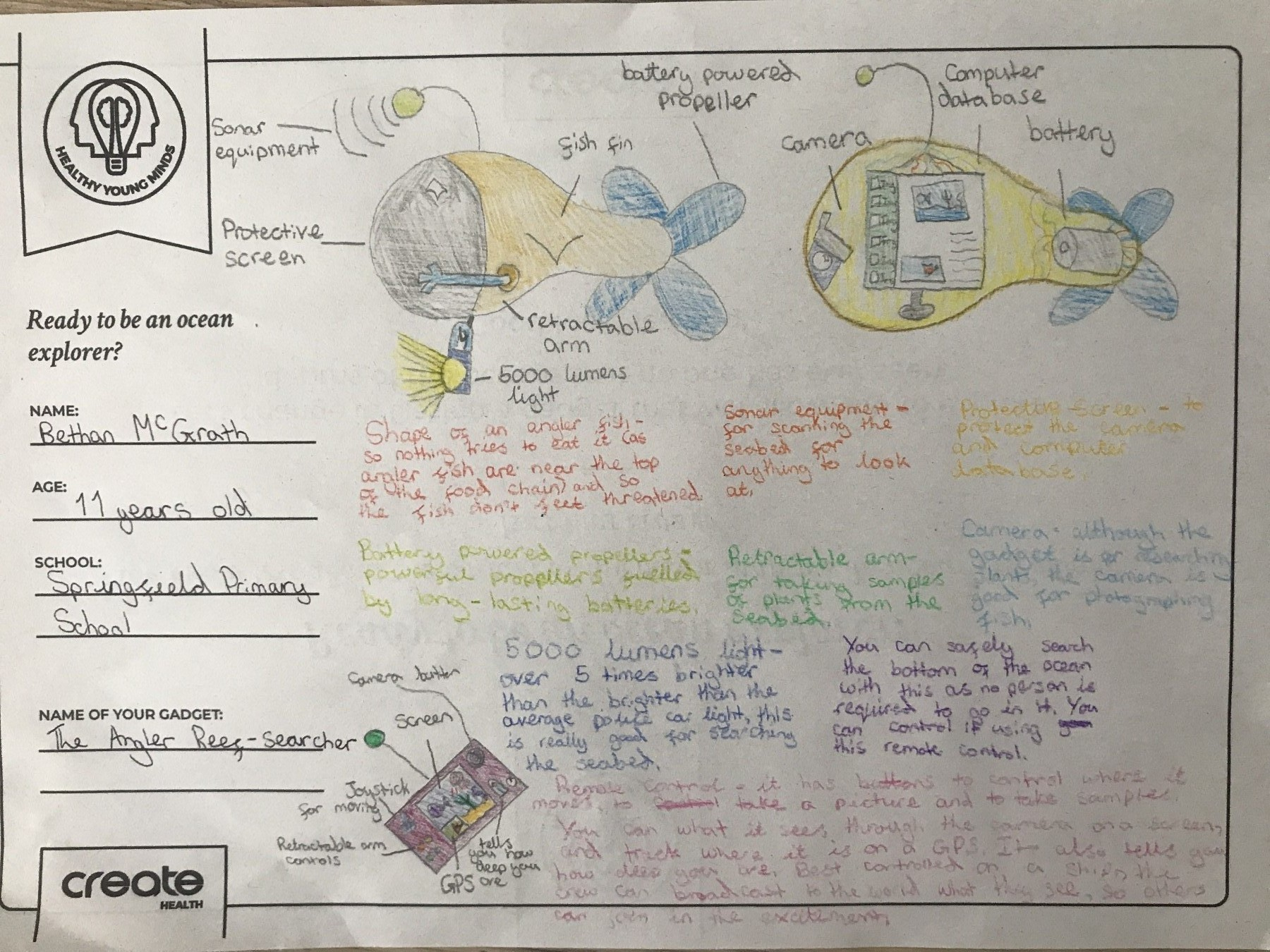 Healthy Young Minds art entrant - Bethan - age 11