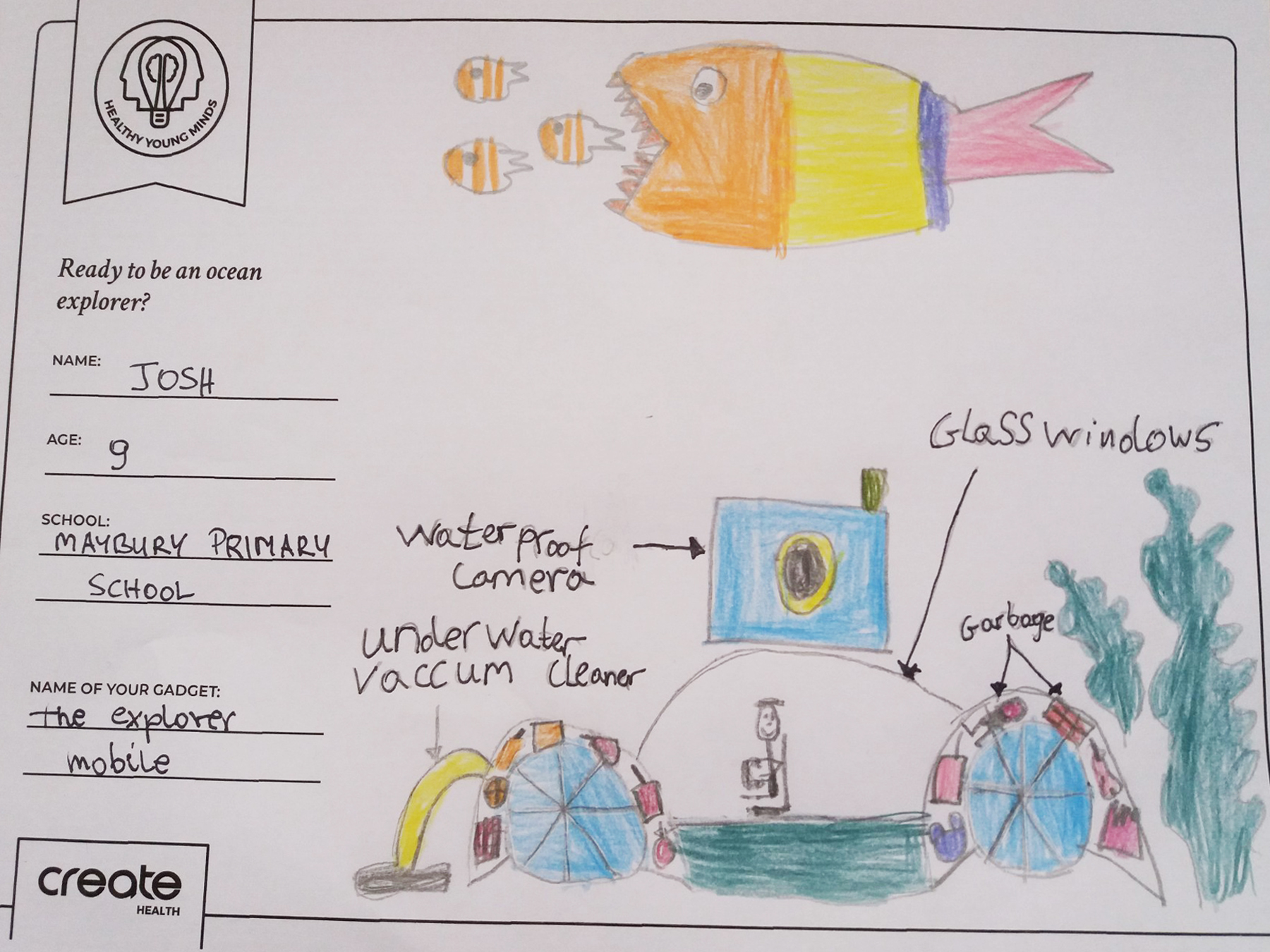 Healthy Young Minds art entrant - Josh - age 9