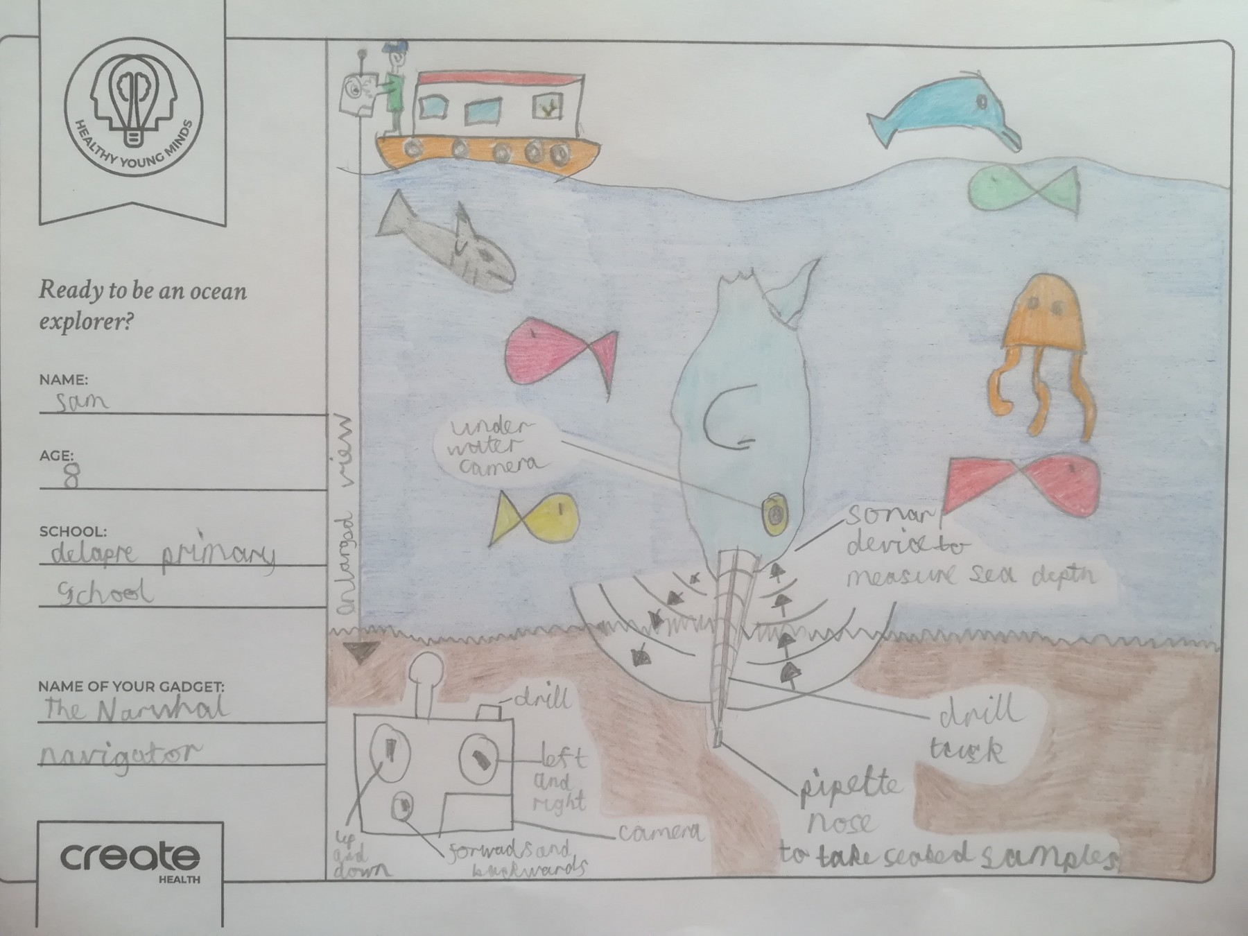 Healthy Young Minds art entrant - Sam - age 8